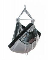 AMAZONAS Babyhängematte go2sleep mit seitlich integriertem Sichtfenster aus Netzstoff und integrierter Matratze