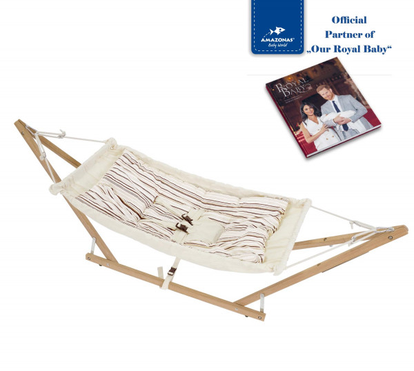 Royal-Set: Babyhängematte Koala inkl. Gestell & Inlay Sunny (TÜV-geprüft)