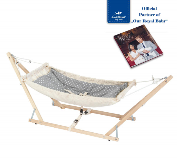 2 in 1 Royal Set: Babyhammock Koala incl. stand (TÜV-certificate) & Inlay Sunny